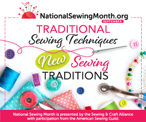 National Sewing Month 2021 graphic